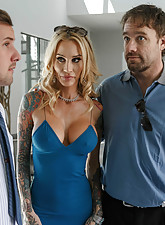 Tight blue dress MILF gets discreetly banged by her real estate agent